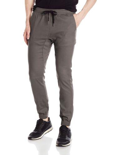 Brooklyn Athletics Men/'s Twill Jogger Pants Soft Stretch Slim Fit Trousers S-XXL