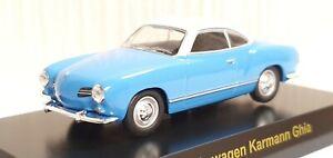 1-64-Kyosho-VW-VOLKSWAGEN-KARMANN-GHIA-BLUE-diecast-car-model