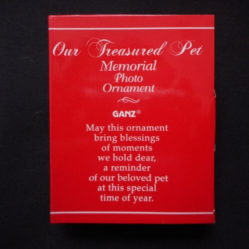 """NEW Pet Memorial Photo Ornament from Ganz /""""Our Treasured Pet/"""""""