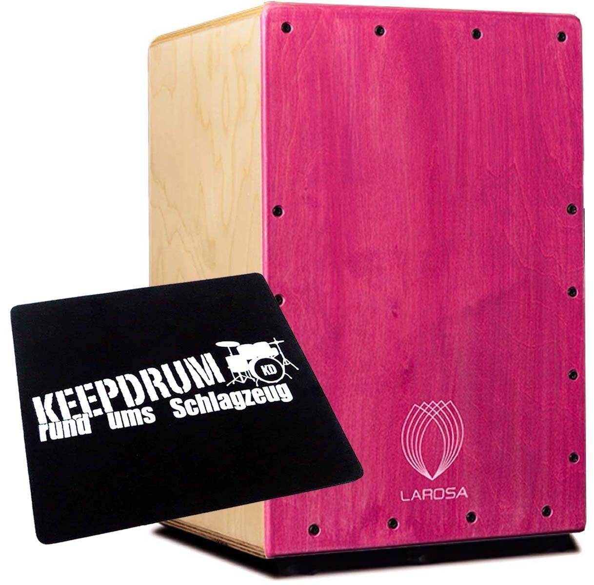 La rosa Basic Cajon junior Pink Cajon Basic + KEEPDRUM sitzpad aadb23