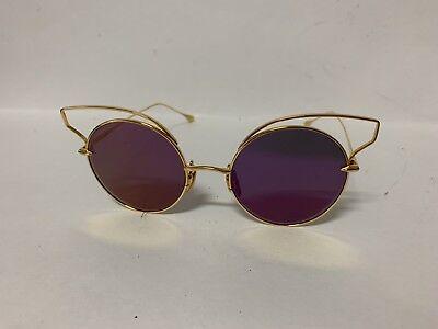 Dita Believer Sunglasses 23008A 18K Gold Dark Grey Violet Flash AR