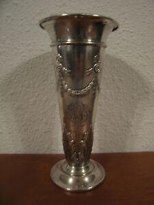 Antique-American-Black-Starr-amp-Frost-Sterling-Silver-Trophy-Vase
