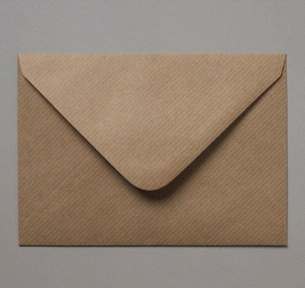 C7 CARD Marronee coste KRAFT A7 CARD C7 Invito RSVP BUSTE 82 x 113mms gratis UK P & P 0d89f3