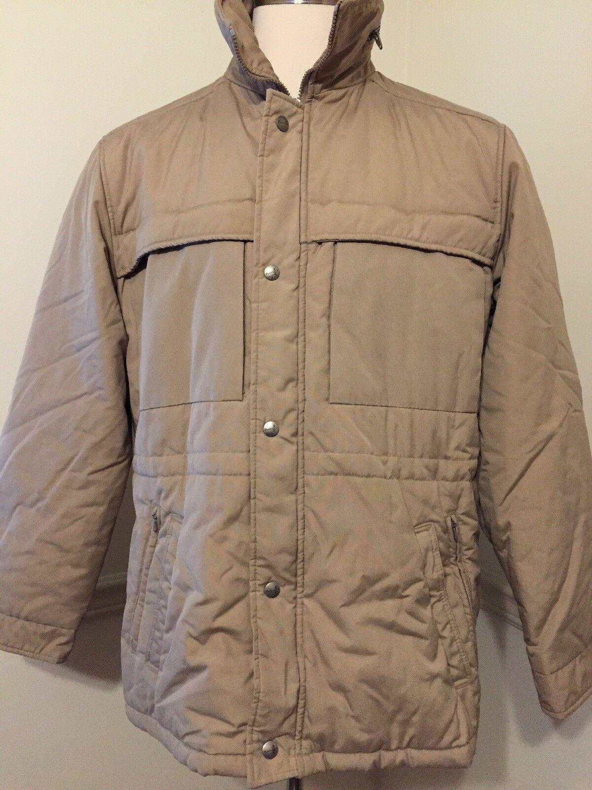 Fieldmaster Lg L Large Men's Tan Insulated Coat Thinsulate Sears Vintage Hood