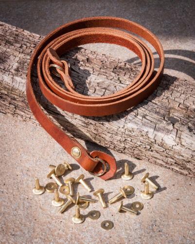 36 pulgadas 10mm Chestnut correa de la Cámara con remaches de latón sólido y anillos