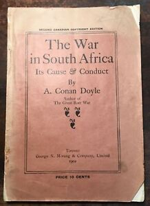 THE-WAR-IN-SOUTH-AFRICA-Its-Cause-amp-Conduct-A-CONAN-DOYLE-Rare-Canadian-Edition