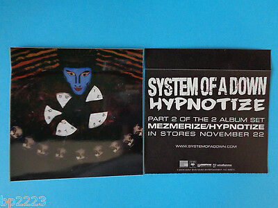 "Brand New Hard To Find Item 2-pk System Of The Down ""hypnotize"" Decal/stickers"