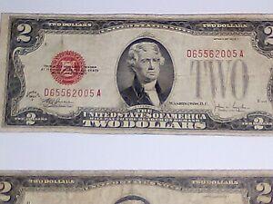 Silver certificates (2) $2 Bills and (1) $5 Dollar Bill