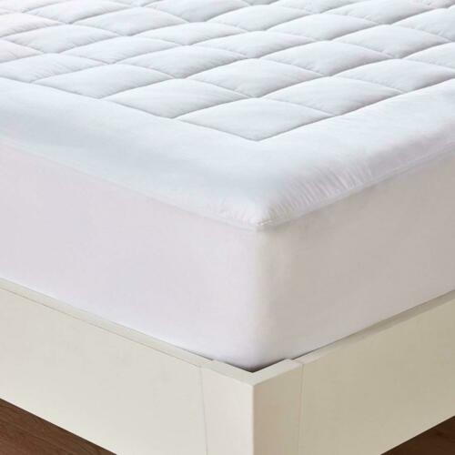 Queen Size Mattress Pad Cover Topper Memory Foam Top Luxury Thick Bed Pillow