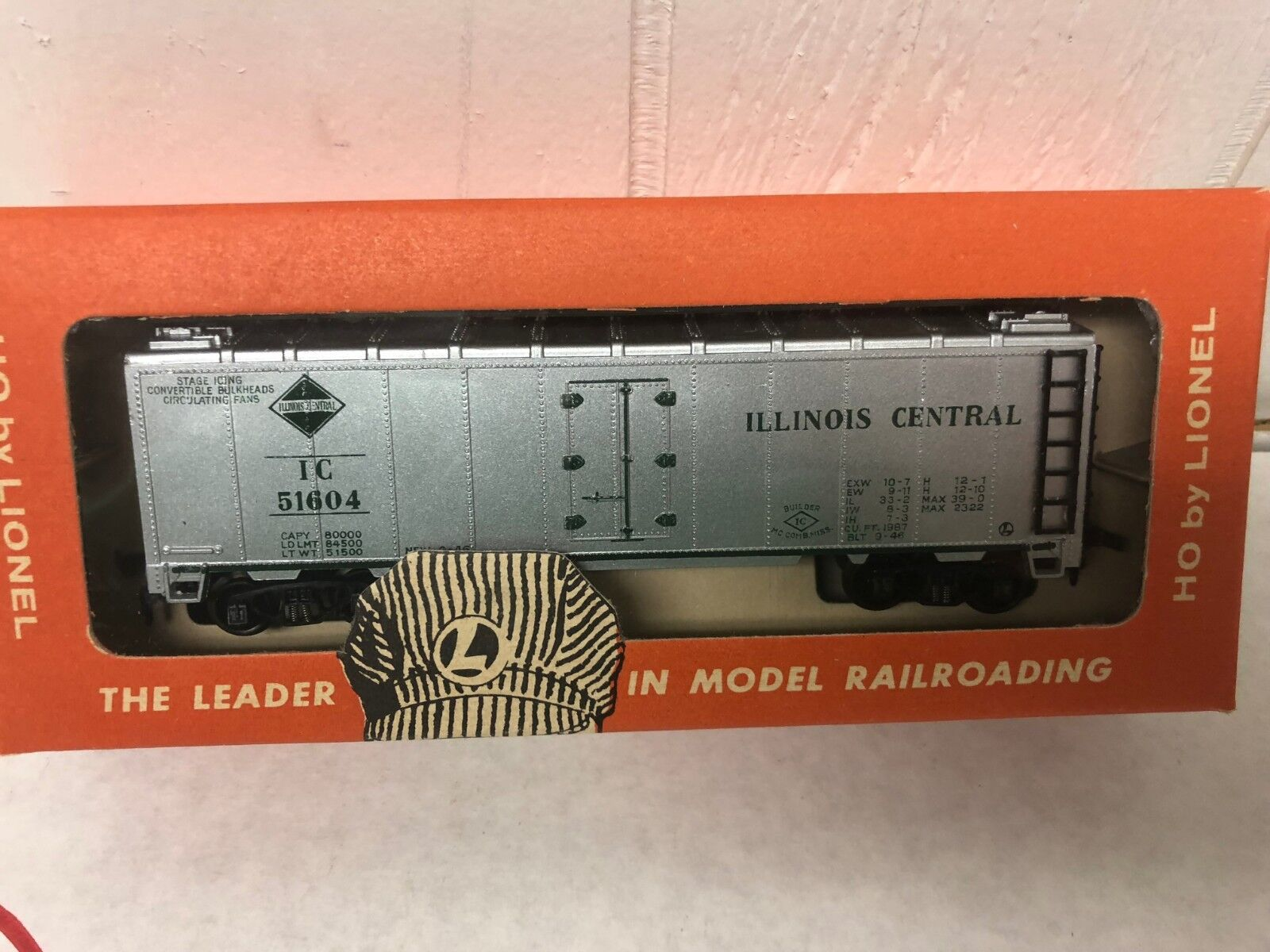 Lionel HO Scale Train Car 0872-25 Illinois Central Reefer Vintage Original Box