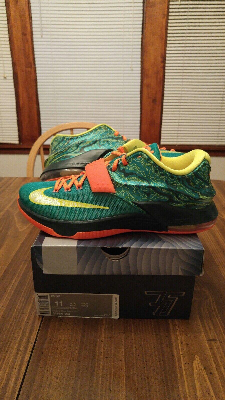 Nike Size KD VII Men's basketball Size Nike 11 Emrld grn/ mtllc silver 653996303 237c0a