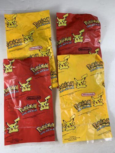 Brand New UNOPENED Pokemon 1999 Vintage Dog Tag Lot Of 4