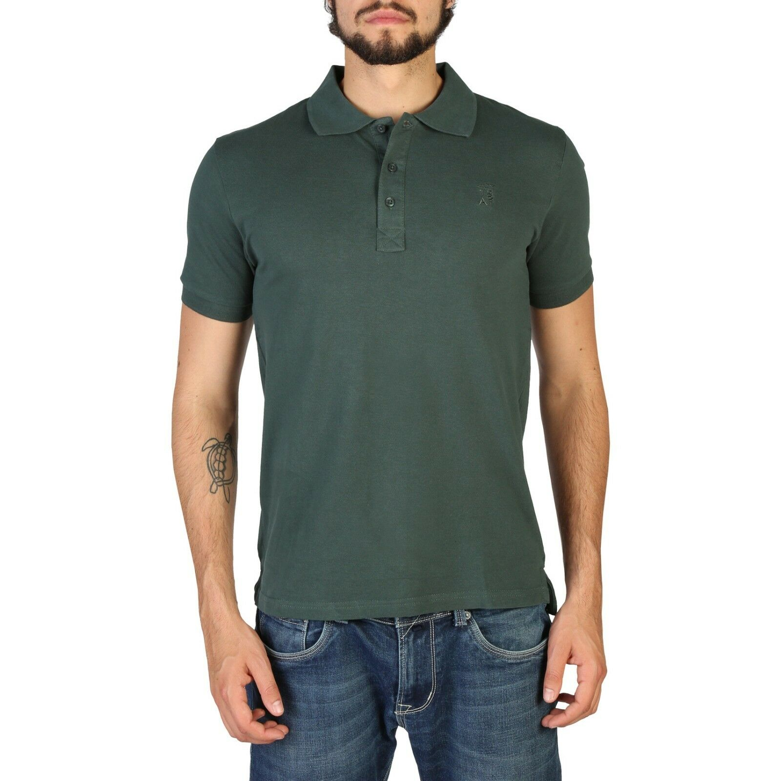 Trussardi Designer Fashion Casual Green Polo T-shirt Size XL RRP