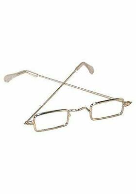 Men/'s Gold Rectangular Ben Franklin Glasses Adult Santa Claus Costume Accessory