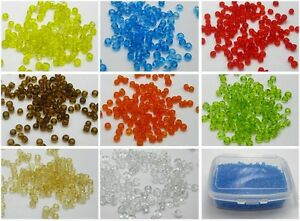 Storage Box Colour Choice Transparent AB 10//0 5000 Pcs Glass Seed Beads 2mm