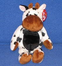 Tipsy Ty Beanie Baby Black and White Cow Bull MWMT Birthday January 7 2004 c624f28f8876