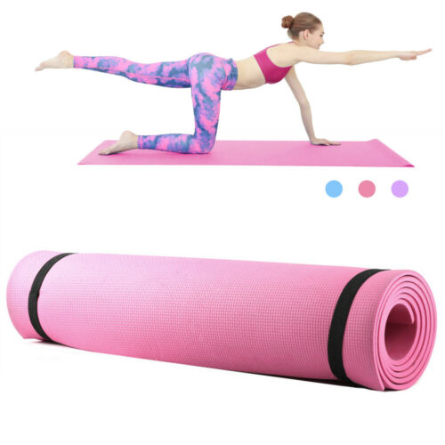 6mm Thick Yoga Mat Gym Camping Non-Slip Fitness Exercise Pilates Meditation Pad