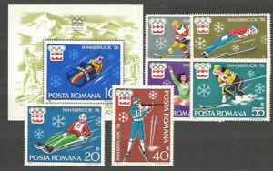 Rumaenien-Post-1976-Yvert-2937-42-H-123-MNH-Spiele-Olympische-Von-Insbruck