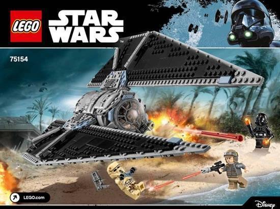 Lego 75154 Set Tie Striker Star Wars Rogue One 4 Minifigures Neuf New