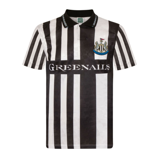 newest 277ab 929a7 Newcastle United FC Official Football Gift Mens 1990 Retro Home Away Kit  Shirt