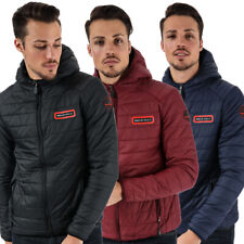 Mens Bear Max Grizzly Hooded Lightweight Puffer Jacket - 3 Colours (TGA44)