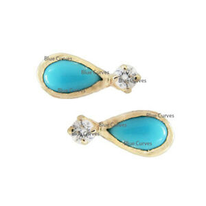 Turquoise earrings Tiny gold studs Tiny gold earrings -Tiny earrings- Gold stud earrings Turquoise studs Tiny studs Dainty jewelry