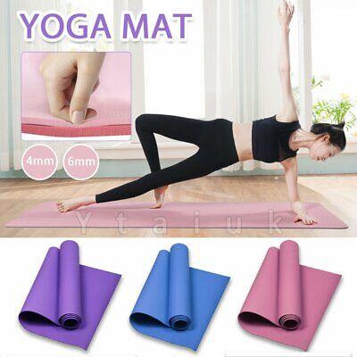 6mm PVC Foam Large Yoga Mat /& Carry Bag YOGA//  PILATES // HOME 173cm x 61cm