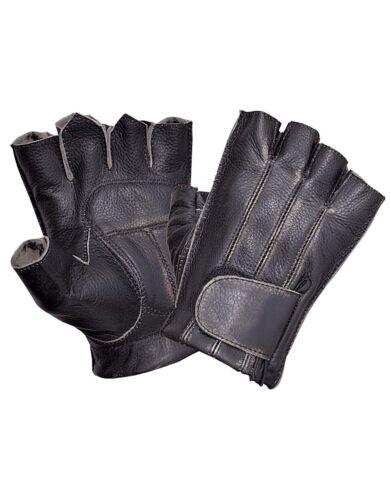 Gloves men/'s black UNIK fingerless with straps tighten wrist area//gloves//hd//