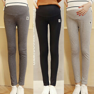 8a739ff4302d2 Image is loading Casual-Skinny-Maternity-Pants-Leggings-Women-Solid-Color-