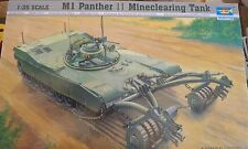 Trumpeter 00346 WWII M1 PANTHER II MINECLEARING  TANK  1:35 KIT MINE CLEARING