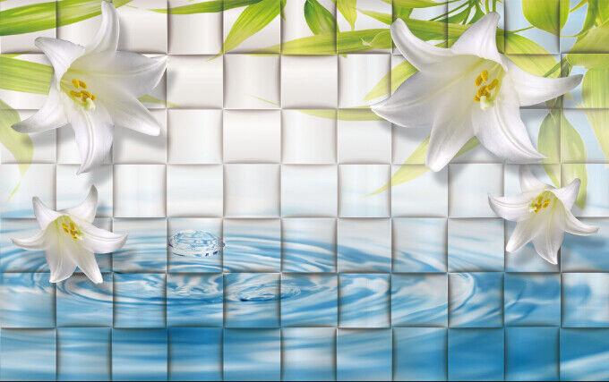 3D Karierte Lilie Blaume 864 Tapete Wandgemälde Tapete Tapete Tapete Tapeten Bild Familie DE | eine breite Palette von Produkten  | Stil  | Verwendet in der Haltbarkeit  12b140