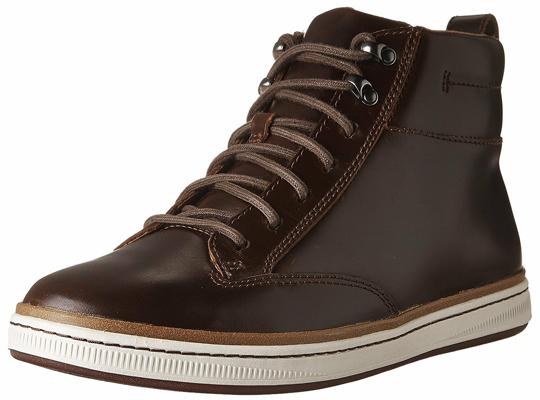 Men's Clarks Norsen Mid Warm Fur Lined Comfort Boot Dark Tan 26127827