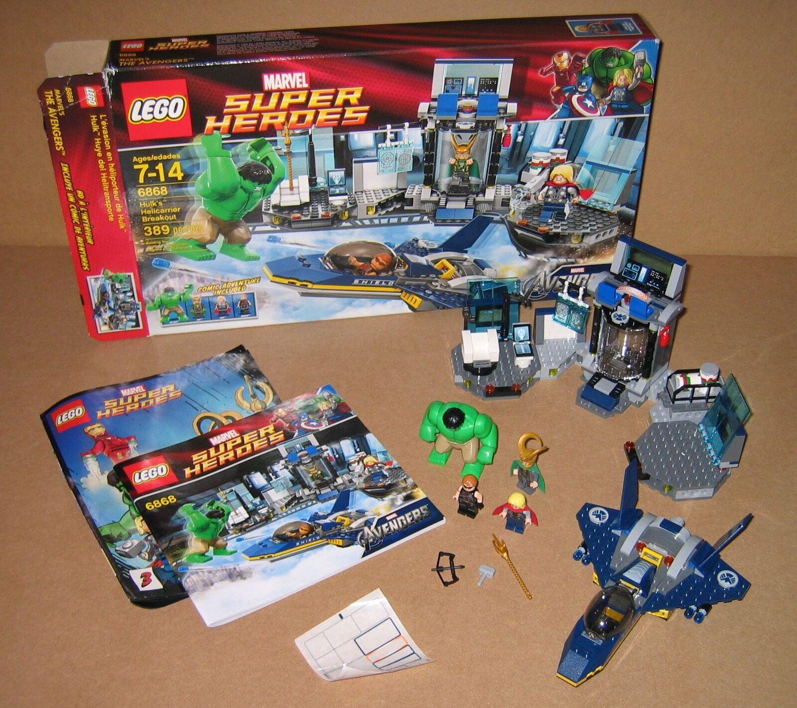 6868 LEGO Hulk's Helivoiturerier Breakout  100% cmplete box Instructions EX COND 2012  bien vendre partout dans le monde
