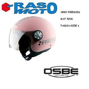 Casco-OSBE-AERO-mat-pink-rosa-opaco-Freesoul-made-in-Italy-taglia-XL