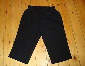BNWT-MATERNITY-Black-Linen-Blend-Cropped-Trousers-Size-8