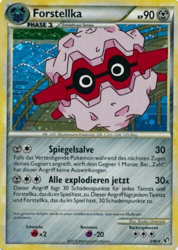 Holo Karte Pokemon HS Unerschrocken Serie Forstellka 90KP deutsch 3//90
