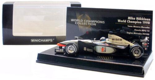 Minichamps mclaren MP4 13 champion du du du monde 1998-mika Häkkinen échelle 1 43 f41595