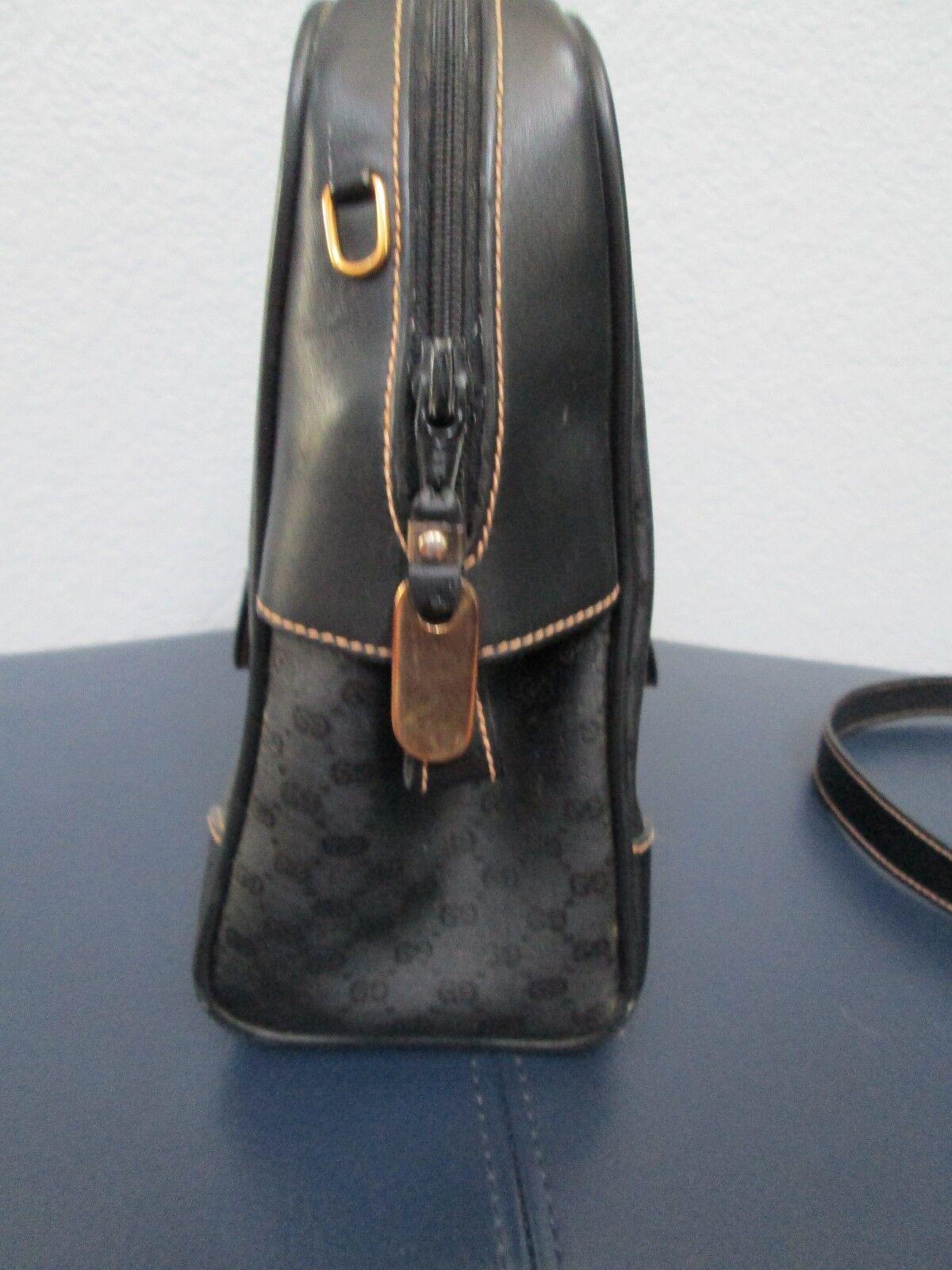 Authentic Vintage Gucci Black Classic Satchel Red… - image 6