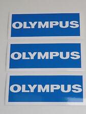 3x Trabajo Lote De Vintage Olympus Cámara Pegatinas de vinilo 115mmx50mm Distribuidor