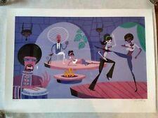Josh Agle SHAG Serigraph Art Print Poster Into His Dark Heart S# 300 COA Disney