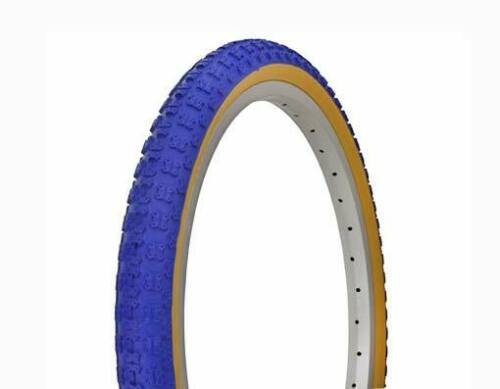 NEW ORIGINAL BICYCLE DURO TIRE IN 20 X 1.75 BLUE//GUM SIDE WALL IN COMP III STYLE