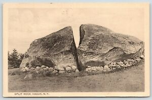 Hague-New-York-Split-Rock-You-Can-Just-Walk-Thru-Other-Side-Can-Climb-1910