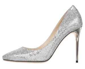 New JIMMY  CHOO argento Glitter 38.5 Pumps scarpe Heels  JIMMY    a8655e