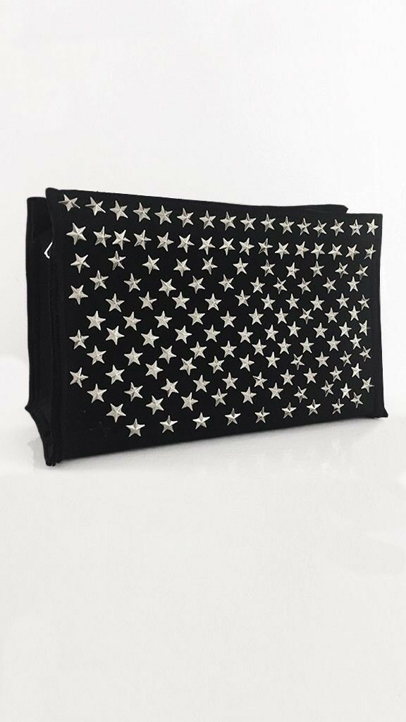 NORMA KAMALI WOMENS STAR STUDDED CLUTCH (MSRP ) NEW WITH TAG