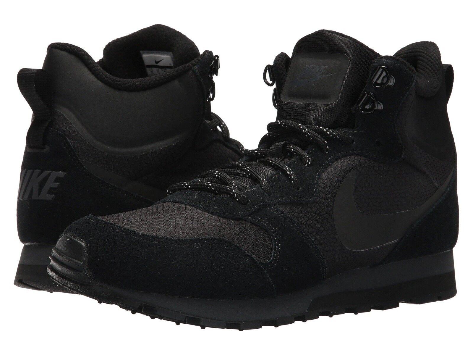 Nuevo En Nike Caja Para Hombre Nike En MD Runner 2 Mid Tenis Zapatos negro/negro Premium 9cf2b1