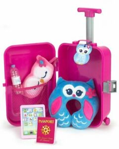 Travel Suitcase 7pc Tablet Passport Water More 18 Quot Doll