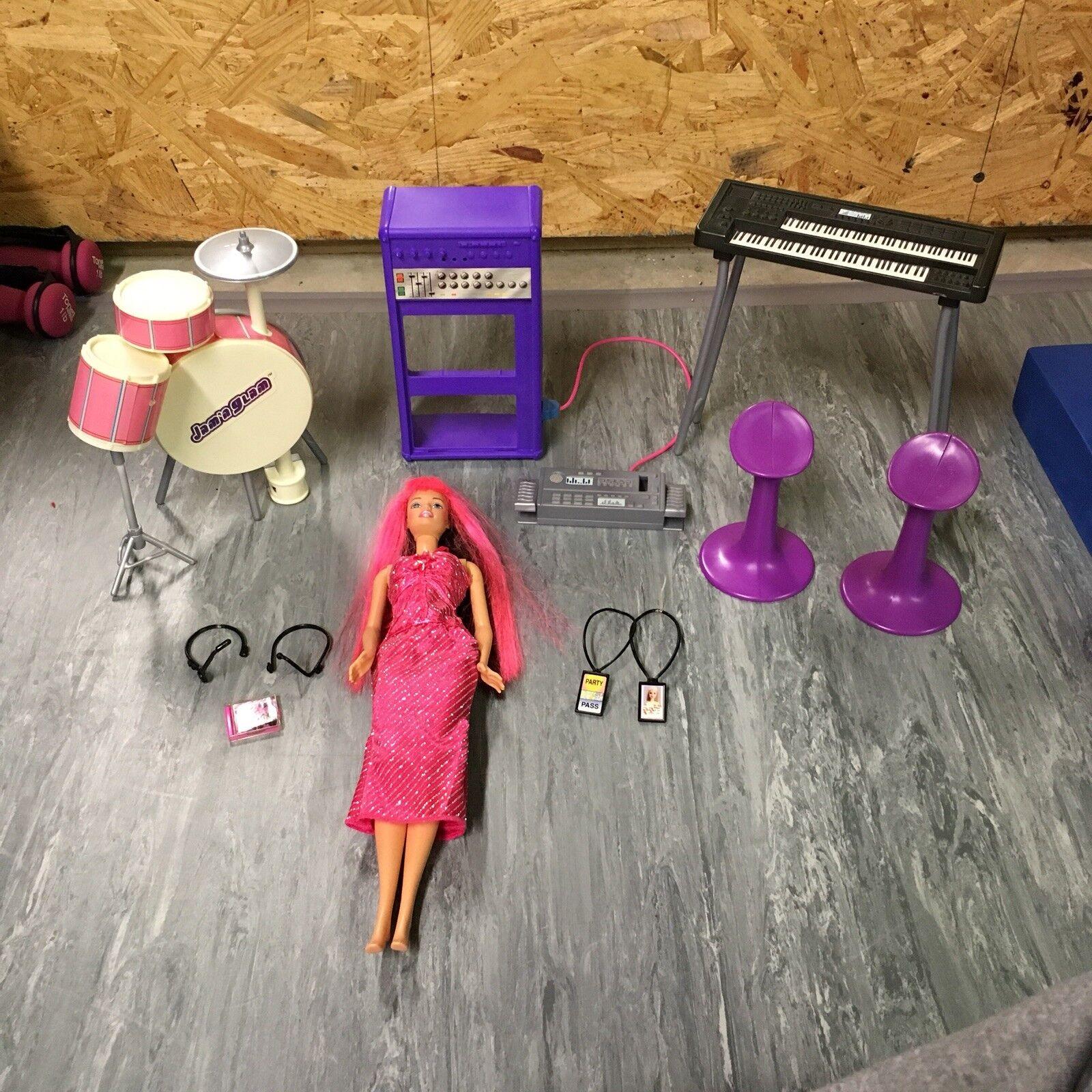 Barbie Jam n Glam concierto Play Set Con Muñeca Y Accesorios