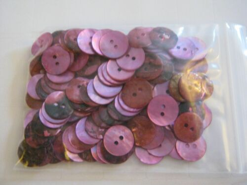 CERISE PINK Qty 12 /& 15mm ** NEW** Gorgeous Cols GLOSSY SHELL BUTTONS