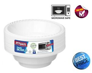 Microwave Safe 50 Pack Disposable Bowls