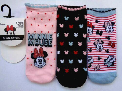 Size 4-8 Socks Disney Minnie Mouse Ladies Shoe Liners